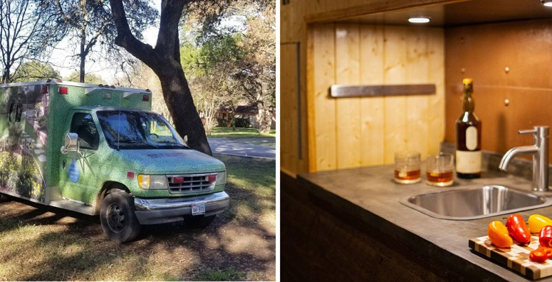 This man converted an old ambulance into the home of his dreams