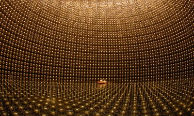 A giant 15 story chamber is a working and cutting edge neutrino detector