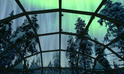 You can now sleep in a glass igloo and watch the Northern Lights