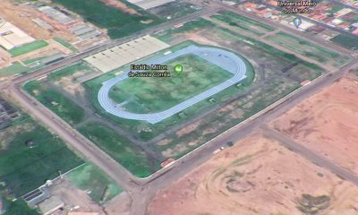 The pitch of this soccer stadium in Brazil is located on the equator