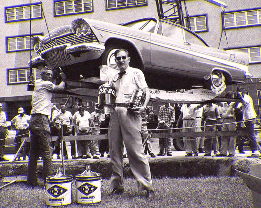 A 1957 Plymouth Belvedere was buried in Oklahoma for fifty years as a time capsule